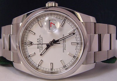 ROLEX - Mens Stainless Steel DateJust White Index Dial - 116200 SANT BLANC