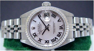ROLEX Ladies 18kt White Gold & Stainless PEARL DateJust 79174 SANT BLANC