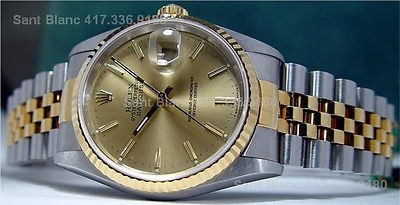 ROLEX - Mens Gold & Stainless DateJust Champagne 16233 SANT BLANC