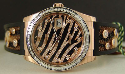 2012 18kt Ever Rose Gold - Royal Pink Diamond EXOTIC 36MM 116185 - SANT BLANC