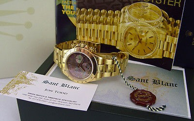 ROLEX - 18kt Gold 40mm Daytona MOTHER OF PEARL Roman Dial - 116528 SANT BLANC