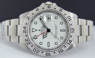ROLEX - 40mm SS Explorer II White Index Dial - 16570 SANT BLANC
