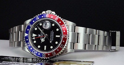 ROLEX - 40mm Stainless Steel GMT- Master II Blue-Red Bezel - 16710 SANT BLANC