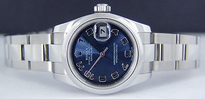 ROLEX 26mm Lady Stainless Steel DateJust Blue Concentric - 179160 SANT BLANC