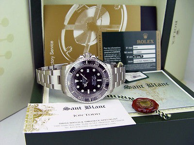 ROLEX -  44mm Stainless Steel Deepsea SeaDweller Black Ceramic