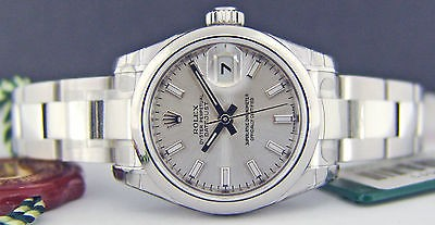 ROLEX Lady 26mm Stainless Steel - Silver Index Dial DateJust 179160 SANT BLANC