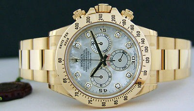 ROLEX - 18kt Gold 40mm Daytona MOTHER OF PEARL Diamond Dial - 116528