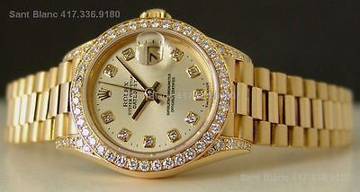 Ladies ROLEX DIAMOND Crown Collection President  SANT BLANC