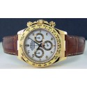 ROLEX - 40mm Daytona 18kt Gold White Bold Arabic On The Strap 116518