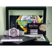 ROLEX Men's DateJust 18kt White Gold & Stainless Steel Silver Roman Dial 116244