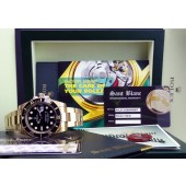 ROLEX 18kt Gold Submariner Black CERAMIC Model - 116618 - SANT BLANC