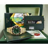 ROLEX - 18kt Gold GMT Master II Green Index 116718 SANT BLANC