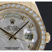 ROLEX 18kt Gold Men's Pearlmaster MASTERPIECE Meteorite Diamond Dial 18948 - SANT BLANC