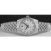 ROLEX - Mid-Size 31mm Datejust - Silver Jubilee Diamond Dial - 178274