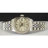 ROLEX - Ladies 18kt White Gold & SS DateJust Silver Stick 79174 SANT BLANC