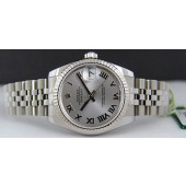 ROLEX - Mid-Size 31mm Datejust - Silver Roman Dial - 178274