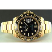 ROLEX - Mens 18kt Gold 40mm GMT-Master II Black Index Dial - 116718 - SANT BLANC
