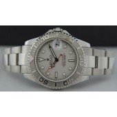 ROLEX - Mid-Size 35mm PLATINUM & Stainless Steel Yacht-Master Platinum Dial -168622