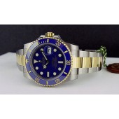 ROLEX - 2013 Never Worn Gold & Stainless Steel SUBMARINER Ceramic Blue Index Dial - 116613