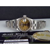 ROLEX 18kt White Gold Stainless Ladies 26mm DateJust ROSE Roman SANT BLANC