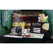 """ROLEX - Stainless Steel 40mm GMT-Master II Black Index """"SEL"""" 16710 SANT BLANC"""