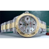 Gold-SS Rolex YachtMaster MOP Diamond Sapphire 16623 SANT BLANC