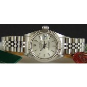 ROLEX Ladies 18kt White Gold & SS 26mm DateJust Silver Stick - SANT BLANC