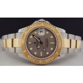 ROLEX 18kt Gold and Stainless Steel MidSize 35mm Model Yacht-Master Slate Dial 168623