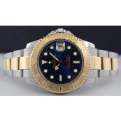 ROLEX - Ladies 29mm 18kt Gold & Stainless Steel Yacht-Master Blue Index Dial - 69623