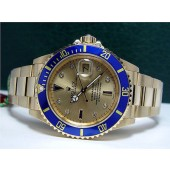 ROLEX - 40mm Submariner 18kt GOLD - Champagne Serti Diamond - 16618