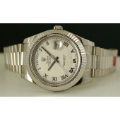 2010 18kt White Gold President Day-Date II 41mm- 218239