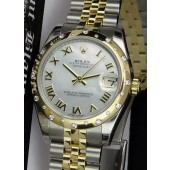 2013 ROLEX Never Worn - Mid-Size DateJust Gold & Stainless Steel, Mother of Pearl DIAMOND 178343