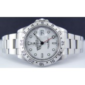 ROLEX - 40mm white Dial SS Explorer II SEL Model 16570 SANT BLANC