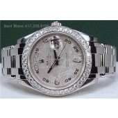 ROLEX Men's Platinum DIAMOND MasterPiece Meteorite PEARLMASTER 18946