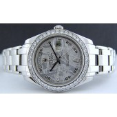 ROLEX - 39mm Men's Platinum Pearlmaster Meteorite Diamond Dial 18946
