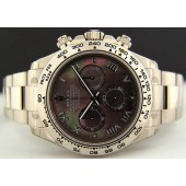 ROLEX UNWORN Men's 18kt White Gold Mother of Pearl ROMAN Daytona - 116509