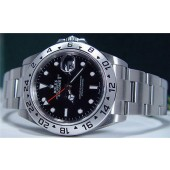 ROLEX - 40mm Stainless Steel Explorer II SEL Black Dial - 16570 SANT BLANC