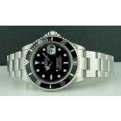 ROLEX - 40mm Mens Stainless SUBMARINER - Black Index Dial - 16610 SANT BLANC