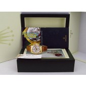 ROLEX 40mm 18kt Gold White Daytona Bold Arabic Crocodile Strap 116518