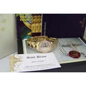 ROLEX - Ladies 29mm 18kt Gold PearlMaster Silver Diamond Dial 80298