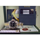 ROLEX - 18kt Gold and Stainless Steel GMT Master II CERAMIC - 116713 SANT BLANC