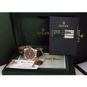 ROLEX - 2013 42mm 18kt Rose Gold Sky-Dweller Chocolate Model 326135