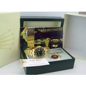 ROLEX - Mens 18kt Gold 40mm GMT-Master II Green Index Dial - 116718 SANT BLANC