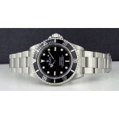 ROLEX - Mens 40mm Stainless Steel SUBMARINER Black Index Dial - 14060 SANT BLANC