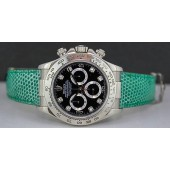 ROLEX 18kt White Gold 40mm Daytona Black Diamond Dial 116519