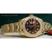 RARE ROLEX Ladies DIAMOND Tahitian Mother of Pearl PearlMaster 80298
