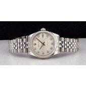 ROLEX - White Gold & Stainless Steel Mid-Size Datejust - Jubilee Diamond 178274