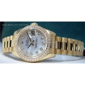 ROLEX Ladies Full Diamond Pearl President Model 179138