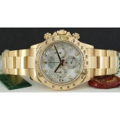 ROLEX - 18kt Gold Mens 40mm Daytona Mother of Pearl Diamond - 116528