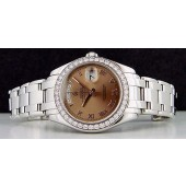 ROLEX - Men's 39mm Platinum Masterpiece Havana Brown Roman Dial 18946